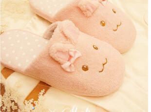 T05♥~ 超可爱のMOMO兔粉色蝴蝶结家居拖鞋PH,拖鞋,