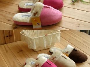 外贸情侣拖鞋 加厚拖鞋 绒拖鞋冬季居家拖鞋家居拖鞋 小鹿0.3,拖鞋,