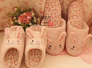 外贸原单 出口日本 无敌可爱的乖乖小兔 居家拖鞋 地板拖鞋,拖鞋,