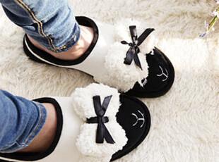 「韩居屋」可爱毛绒绵羊情侣居家鞋 韩国进口卡通拖鞋家居鞋lh010,拖鞋,