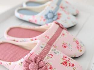 〓持家太太〓韩国家居*可爱花朵地板拖鞋/居家鞋(2色),拖鞋,