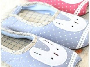 *韩国进口家居*n0969 小兔小兔 花边点点母女居家鞋 两色选,拖鞋,