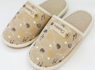 外贸 出口日本订单多余 女士家居 居家拖鞋 棉麻材质,拖鞋,