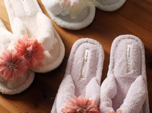 日本大牌原单 软绵绵 柔软 花朵 毛绒拖鞋 室内鞋 家居鞋 冰激凌,拖鞋,