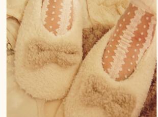 出口日本 大蝴蝶结珊瑚绒地板拖/软底拖鞋,拖鞋,
