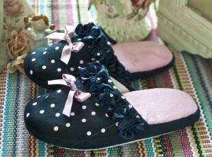 7折 「田园风格] 2012春季新款 女士可爱布艺时尚家居鞋 拖鞋,拖鞋,