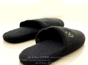 居家日用秋冬季可爱家居船锚棉拖鞋,拖鞋,