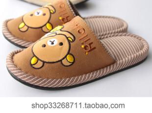 日本rilakkuma 棉拖鞋 轻松小熊 松弛熊 家居室内女士拖鞋 小码,拖鞋,