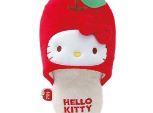 【预订】日本正品代购HELLO KITTY红色苹果家居鞋居家保暖拖鞋A,拖鞋,