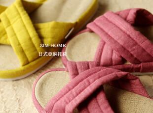 ZIM HOME外贸出口日式亚麻居家女式托鞋按摩舒适柔软情侣,拖鞋,