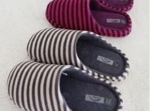 全民疯抢!简单舒适条纹保暖拖鞋 冬季保暖居家鞋/ 室内拖鞋,拖鞋,