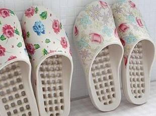 现货!韩国盛开的玫瑰浴室按摩拖鞋/浴室漏水保健鞋 浴室拖鞋,拖鞋,