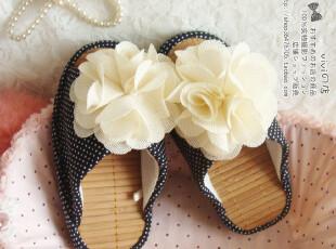 外贸原单 可爱花花夏季半掌减肥居家凉拖鞋韩国塑身室内家居鞋,拖鞋,
