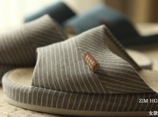 ZIM HOME外贸日单家居凉托托鞋夏季情侣款按摩透气排汗亚麻女款,拖鞋,