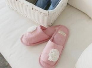 韩国代购优雅精致玫瑰花朵居家拖鞋/棉拖鞋 室内拖鞋 3个颜色可选,拖鞋,