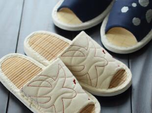 清仓 日单情侣款拖鞋木地板拖鞋夏季拖鞋竹席竹居家拖鞋家居拖鞋,拖鞋,