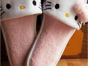 日本 植绒面橡胶防水底 家居拖 拖鞋 防水拖 hello kitty,拖鞋,