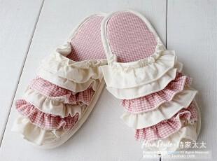 韩国进口布艺拖鞋/棉拖/春秋用地板拖鞋/居家鞋SP15-20(2色入),拖鞋,