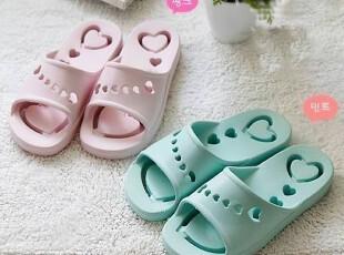 『韩国进口家居』R283 甜美风格*镂空爱心*情侣浴室防滑拖鞋,拖鞋,