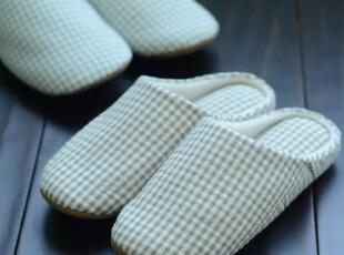 良品新品优惠 外贸日单小格子家居拖鞋情侣软底拖鞋地板居家拖鞋,拖鞋,
