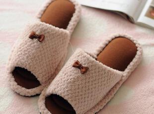 日本原单 小蝴蝶结 按摩拖鞋 家居地板拖鞋,拖鞋,
