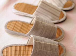 出口日单 男士夏季竹底居家拖鞋 地板鞋 4款选,拖鞋,