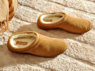 F2320 Fireside冬季家居休闲拖鞋 真皮家居鞋 男款,拖鞋,
