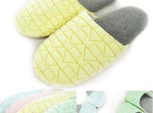 Zami/宅美 春季新品 日式绗缝软底拖鞋 可水洗 多色选,拖鞋,