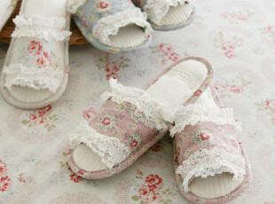 【Asa room】韩国进口居家用品代购 可爱蕾丝花边拖鞋tx10,拖鞋,