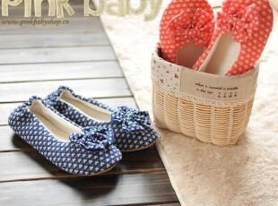 蝴蝶结家居鞋居家室内拖鞋软底两色款月子鞋棉拖鞋地板拖鞋女正品,拖鞋,