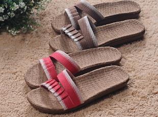 米奇菱居家拖鞋麻布拖鞋夏季凉拖鞋防滑防湿无声地板拖鞋,拖鞋,
