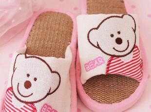 特价 小熊家居拖鞋 情侣 夏季 地板拖 室内拖 可爱 女 防滑 厚底,拖鞋,