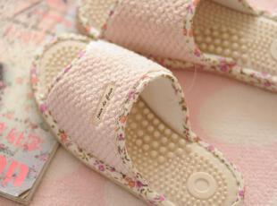 日单 菱格小碎花 按摩拖鞋 健康鞋 居家拖鞋,拖鞋,
