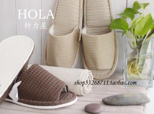 H*LA 台湾品牌特*屋 风潮室内拖鞋 家居居家情侣拖鞋 2色入 带牌,拖鞋,
