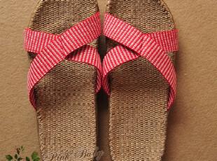硕夏季凉拖亚麻拖鞋家居拖鞋对折女款款拖鞋家居拖鞋(不伤木地板),拖鞋,