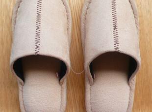日本高级品牌家居拖鞋 室内专用拖鞋  麂皮绒 女士拖鞋,拖鞋,