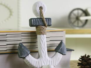 地中海风格 海洋系列衣帽挂 单挂钩 壁饰 壁挂勾 原木工艺,挂钩,