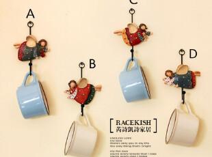 5折特惠 凯莉罗天使 挂钩创意 欧式田园 铁艺树脂彩绘工艺挂钩,挂钩,