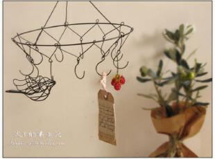 ZAKKA杂志款-优雅铁线挂饰 吊环挂钩装饰  日本杂货(特价),挂钩,