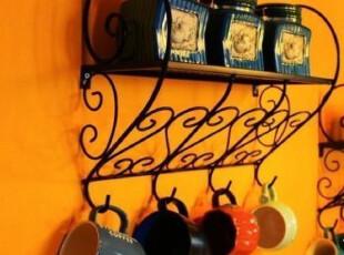 铁时尚 欧式 铁艺 置物架 花架 挂钩 浴室衣帽架 厨房架 现货,挂钩,