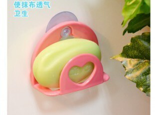 爱心厨房吸盘置物架 抹布架海绵架 厨房挂钩 厨房小工具 角架,挂钩,