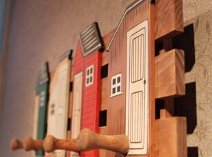 时尚创意田园挂钩家居墙壁挂饰木质挂衣架 儿童房挂钩 墙面装饰,挂钩,