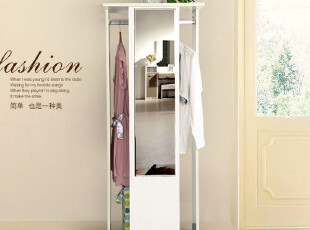美亿佳|韩式衣柜|衣帽架|穿衣镜|简约衣柜|木衣柜J-600,挂钩,