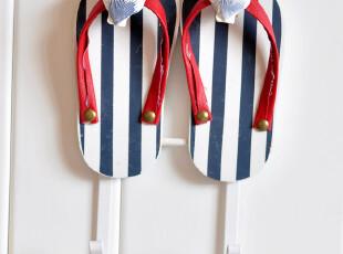 悦然家饰 地中海风格 夏日沙滩凉拖鞋装饰挂钩 一对2件套装,挂钩,