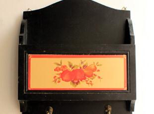 家居装饰挂钩 黑色美式双勾壁挂收纳兼挂钩,挂钩,