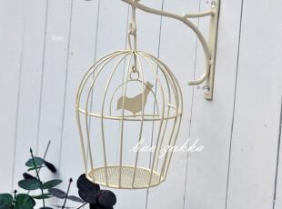 BAO ZAKKA 杂货 复古 小鸟 壁饰挂钩 带装饰烛台鸟笼,挂钩,