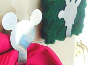 简家 三金冠 不锈钢挂钩米奇造型可爱 吸盘牢固,挂钩,
