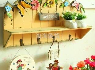田园木质墙面置物架挂钩 田园乡村风墙面装饰 多用途置物挂钩,挂钩,