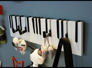 t热销钢琴折合式挂衣钩壁挂 琴键式 创意衣服帽挂钩创意田园新款,挂钩,
