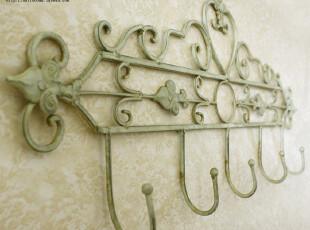 欧式田园风格 复古做旧 铁艺挂钩 挂衣架 衣帽勾 壁挂架 挂钩,挂钩,